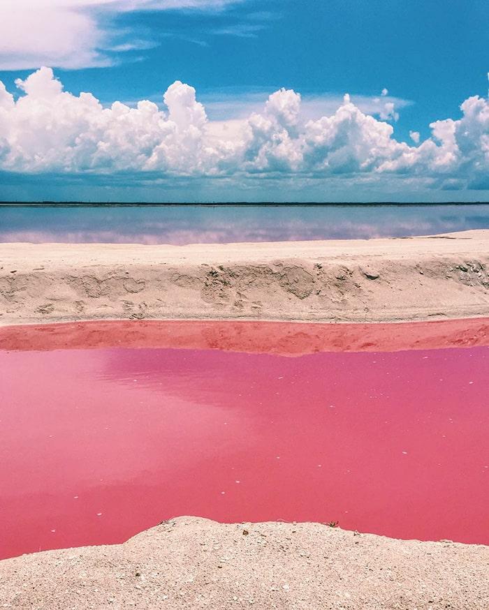Розовая лагуна в Мексике - 1