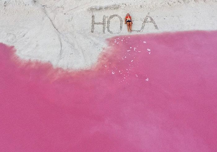 Розовая лагуна в Мексике - 6