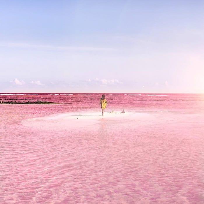 Розовая лагуна в Мексике - 7