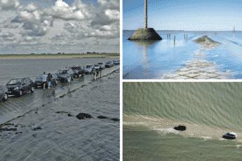 Эта дорога во Франции исчезает под водой дважды в день