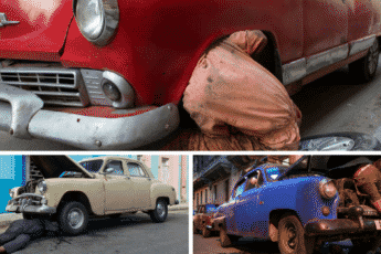 Car Reparation In The Streets Of Havana