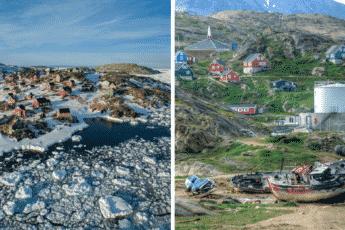 Посёлок Кулусук на острове Арктики-Гренландия