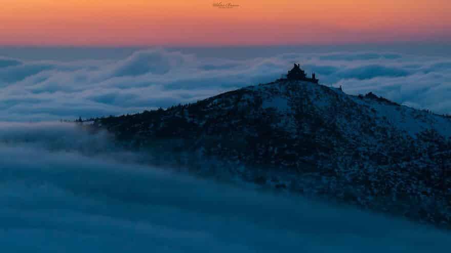 Шреница (Szrenica) - горный пик, расположенный на польской и чешской границах