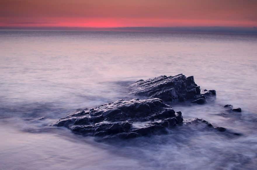 Туманное море рано утром