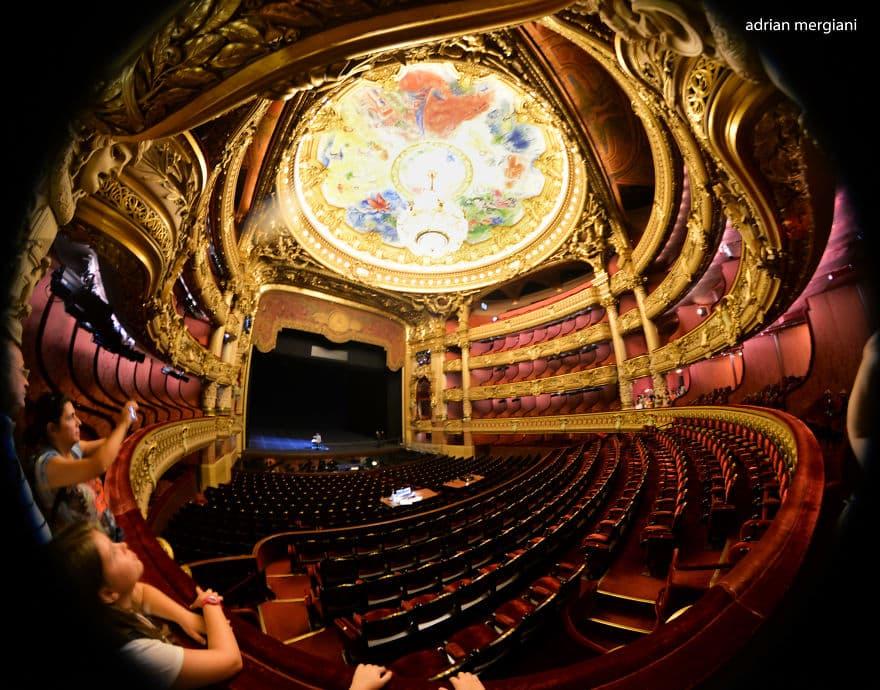 театральный зал Оперы Гарнье