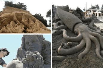 Шедевры-скульптуры из песка от Тошихико Хосаки