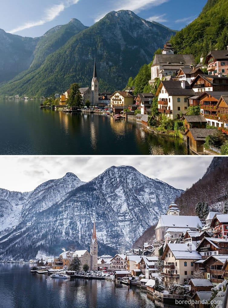 Деревня Гальшттат, Австрия