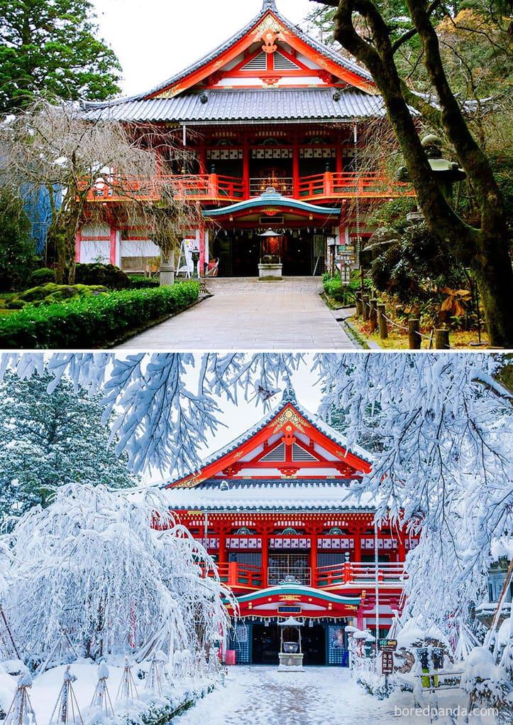 Храм Natadera, Komatsu, Япония