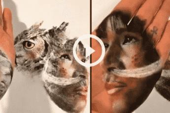 Художник Рассел Пауэлл создаёт картины с помощью ладони