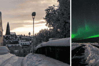 Исландия и северное сияние