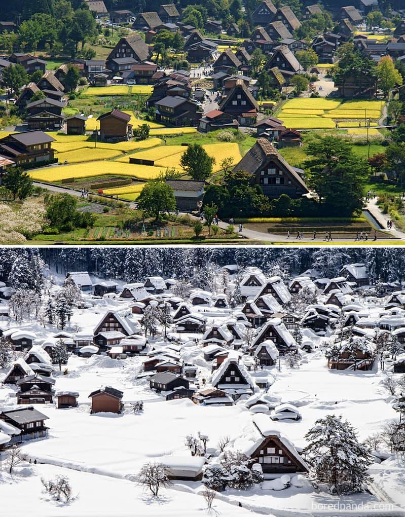 Исторические села Сиракава-Го, Япония