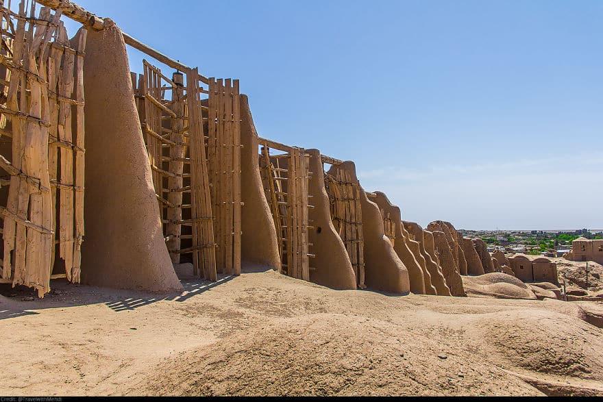 Исторические ветряные мельницы Наштифан, деревня Наштифан, провинция Разави Хорасан