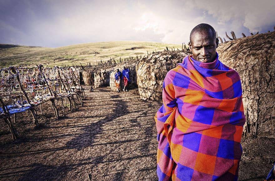 Лидер этой деревни в племени Масаи