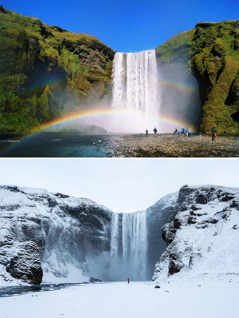 Водопад Скоугафосс, Исландия