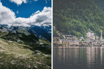 Живописные австрийские горы и озёра