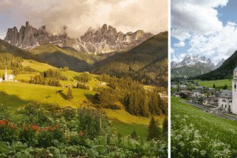 деревушка в Доломитовых Альпах