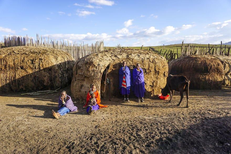 семейный портрет племени Масаи